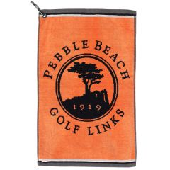 Pebble Beach Golf Links Golf Towel in Orange