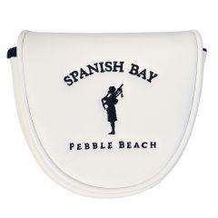 Spanish Bay Mallet Putter Cover -White
