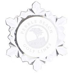 Pebble Beach Snowflake Ornament