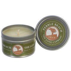 Pebble Beach 4 ounce Travel Tin Soy Wax Candle
