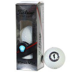 Spanish Bay Pro V1 X sleeve of balls by Titleist