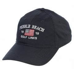 Pebble Beach Men's Adjustable Tech American Flag Hat-Navy