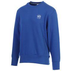 Pebble Beach Golf Men's Crew Neck Sweatshirt by Divots Sportswear-Royal-S