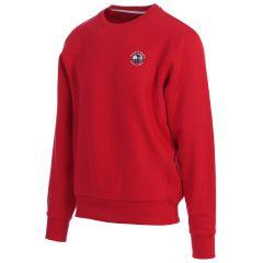 Pebble Beach Golf Men's Crew Neck Sweatshirt by Divots Sportswear-Red-XL