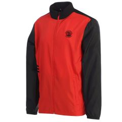 Pebble Beach Club Wind Jacket by Adidas-Red-S
