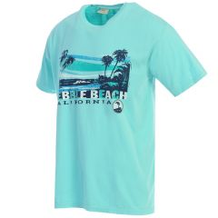 Pebble Beach 'Retro Island' Tee-Teal-S