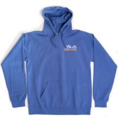 Pebble Beach Garment Dyed Fleece Hoodie by Comfort Wash-Blue-M