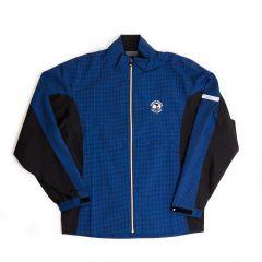Pebble Beach FJ Houndstooth Rain Jacket-Royal-XL