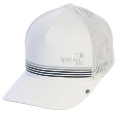 """Spyglass Hill 'Brown"""" Flexfit Hat by Travis Mathew-White-LG/XL"""