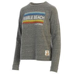 Pebble Beach Ladies Heather Grey Haachi Sweatshirt-XS