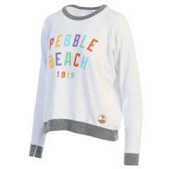 Pebble Beach Ladies White Joan Sweatshirt
