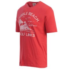 Pebble Beach Men's Cypress Tee By American Needle-Red-S