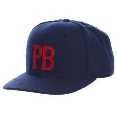 Pebble Beach 'PB' Adjustable Cotton Twill Cap by Pukka-Navy