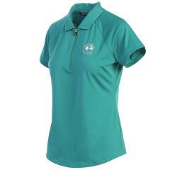 Pebble Beach Ladies Forge Polo by Cutter & Buck-Turquoise-S
