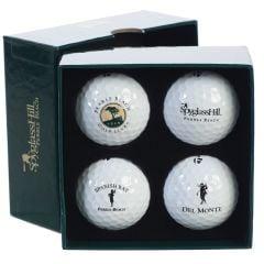 Pebble Beach Resorts Four Course Golf Ball Set