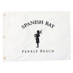 Spanish Bay Bagpiper Pin Flag