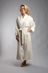 Microfiber Ultra Luxury Robe From The Lodge at Pebble Beach -Natural-S