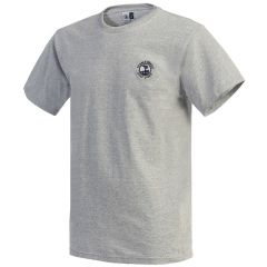 Pebble Beach Golf Cotton Jersey T-Shirt by Divots Sportswear -Grey-S