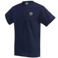 Pebble Beach Golf Cotton Jersey T-Shirt by Divots Sportswear -Navy-S
