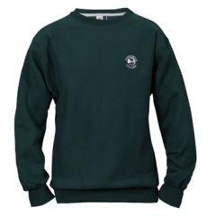 Pebble Beach Golf Men's Crew Neck Sweatshirt by Divots Sportswear -Dark Green-M