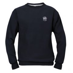Pebble Beach Golf Men's Crew Neck Sweatshirt by Divots Sportswear -Navy-M