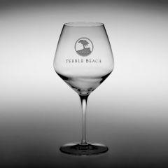 Pebble Beach Heritage Logo Wine Glass