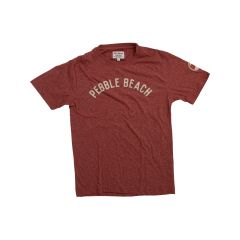 Pebble Beach  Vintage Applique Tee by American Needle-Red-S