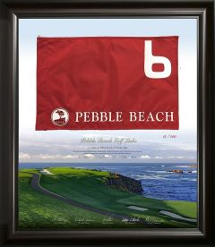 Limited Edition Pebble Beach Golf Links Pin Flag -6th Hole